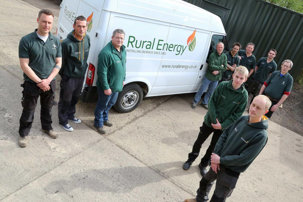 Rural Energy engineers by branded van