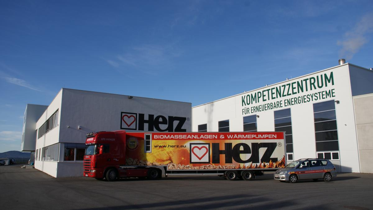 Herz Pinkafeld offices, manufacturing plant and delivery van