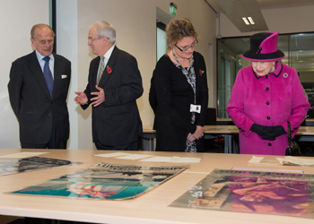 Her Royal Highness Queen Elizabeth II and Prince Philip at The Keep opening
