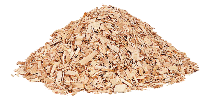 Pile of biomass fuel wood chip