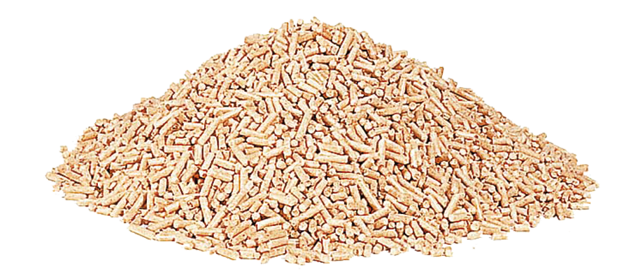 image of pile of wood pellets