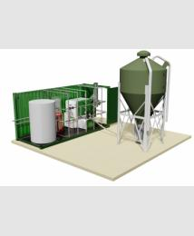 Trade Pod 3D open rendering image with silo
