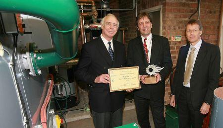 Opening Beacon College's biomass installation in 2006