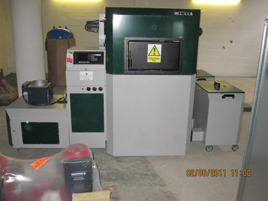 Biomass boiler at Brunel University