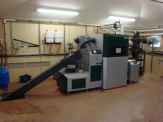 Scotney Castle's biomass plant room